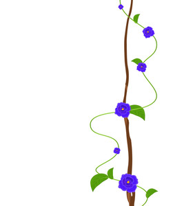Purple Flowers Decorative Greeting Template