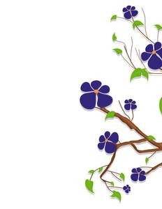 Purple Flowers Nature Branch