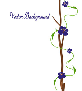 Purple Flowers Xmas Banner