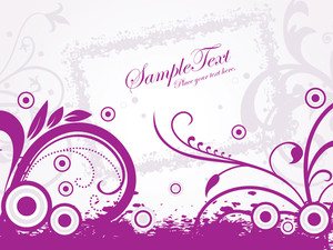 Purple Grunge With Artwork