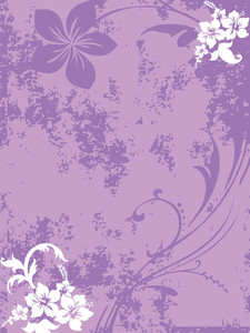 Purple Grungy Floral Pattern