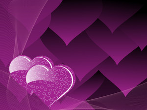 Purple Heart Shape Love Background