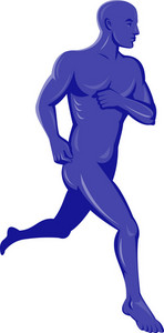 Purple Human Male Running Jogging