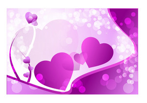 Purple Love Hearts