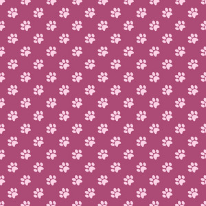 Purple Paw Print Pattern