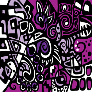 Purple Stylized Abstraction