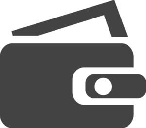 Purse Glyph Icon