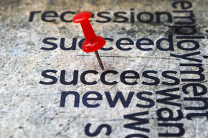 Push Pin On Success News