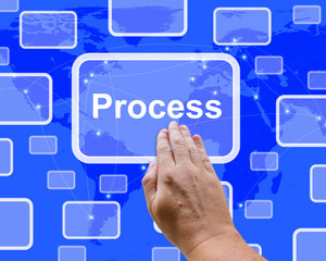 Pushing Process Button Representing Controlling A System