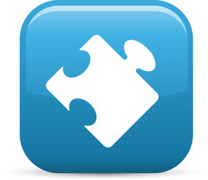 Puzzle Piece Elements Glossy Icon