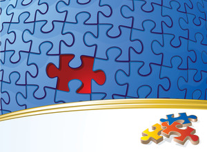 Puzzle. Vector Background.