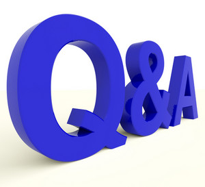 Q And A Letters Showing Questions And Answers