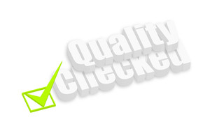 Quality Checked 3d Text