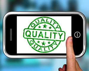 Quality On Smartphone Shows Premium Products
