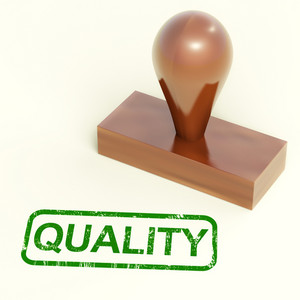 Quality Stamp Showing Excellent Products
