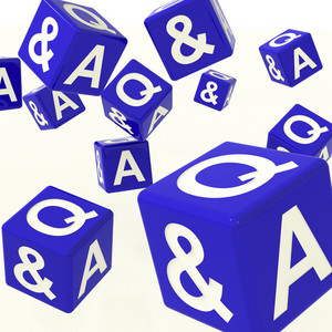 Question And Answer Dice As Symbol For Information