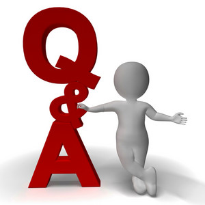 Question And Answer Q&a Sign And 3d Character As Symbol For Support