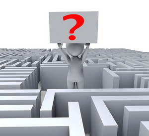 Question In Maze Shows Confusion