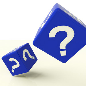 Question Mark Dice As Symbol For Questions And Answers