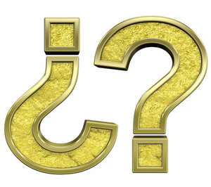 Question Mark From Gold Cast Alphabet Set
