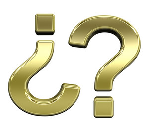 Question Mark From Shiny Gold Alphabet Set