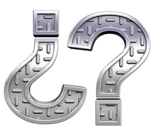 Question Mark From Steel Tread Plate Alphabet Set