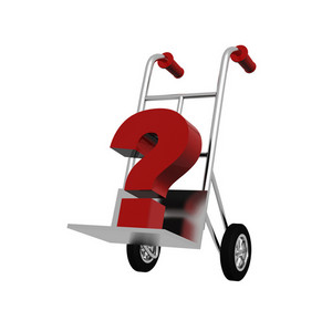 Question Mark On Cart