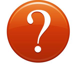 Question Mark Orange Circle