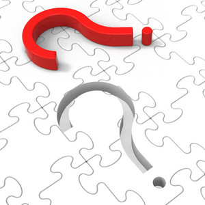 Question Mark Puzzle Shows Asking Questions