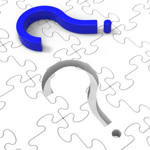 Question Mark Puzzle Shows Confusion