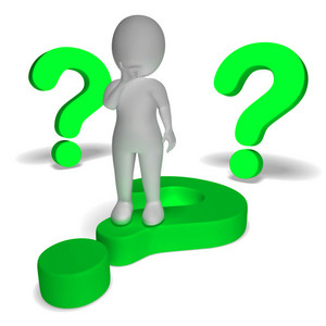 Question Marks Around Man Showing Confusion And Unsure