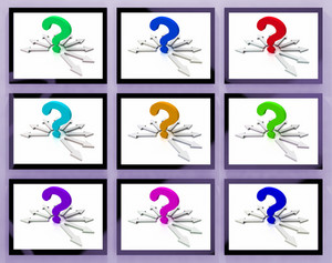 Question Marks On Monitors Showing Asked Questions