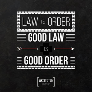 "Quote Typographical Background ""law Is Order"