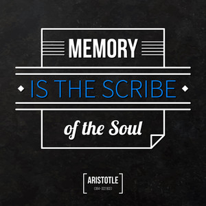 "Quote Typographical Background ""memory Is The Scribe Of The Soul"""