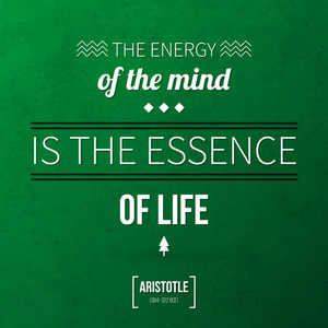 "Quote Typographical Background ""the Energy Of The Mind Is The Essence Of Life"""