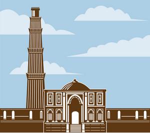 Qutub Minar Retro Color