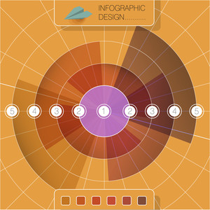 Radial Infographic Design Vector Template
