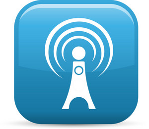Radio Signal 2 Elements Glossy Icon