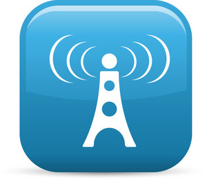 Radio Signal Elements Glossy Icon