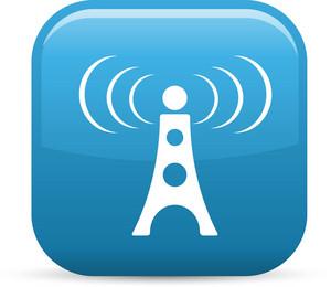 Radio Signal Elements Glossy Icon
