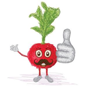 Radish Vegetable Mustache