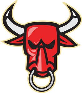 Raging Angry Bull Head