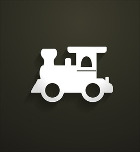 Rail Engine Vector Shape
