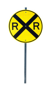 Rail Road Crossing Signboard