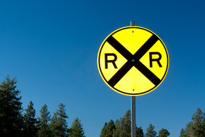 Railroad Crossing Signboard