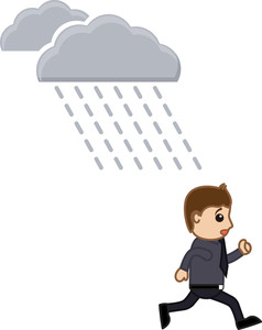 Rain - Cartoon Vector Illusatrtion