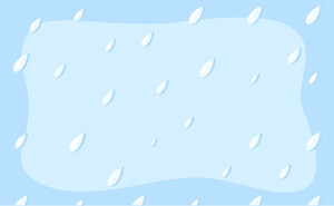 Rain Drops - Cartoon Background Vector
