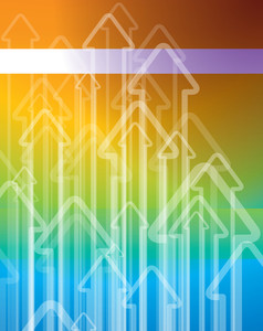 Rainbow Arrow Vector Background.