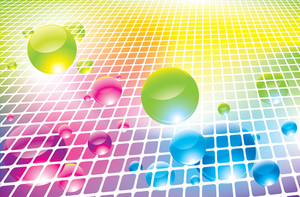 Rainbow Bubbles. Vector Background