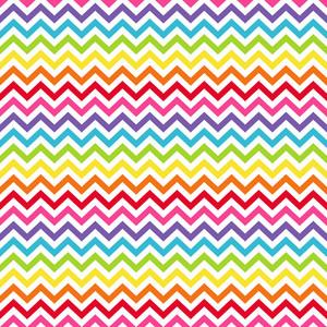 Rainbow Chevron Pattern